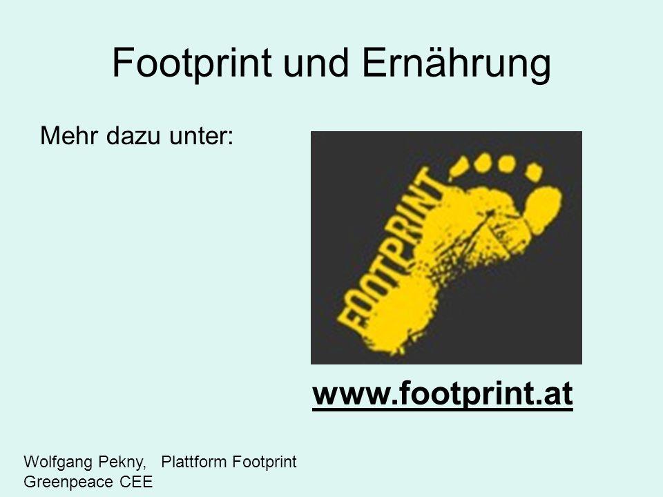 Footprint und Ernährung