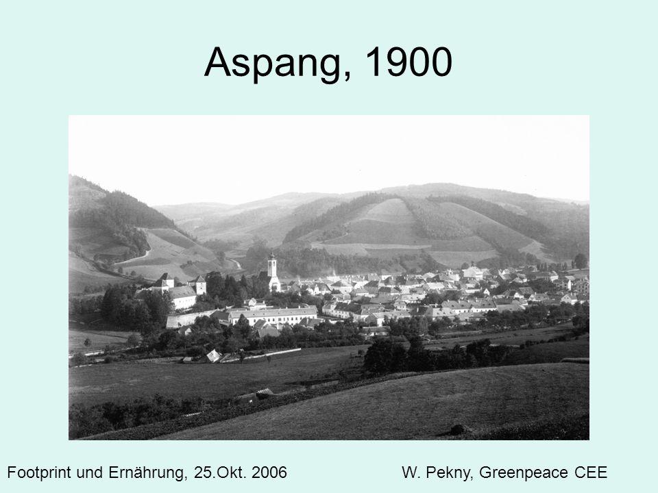 Aspang, 1900 A development significant at the landscape level: Footprint und Ernährung, 25.Okt.