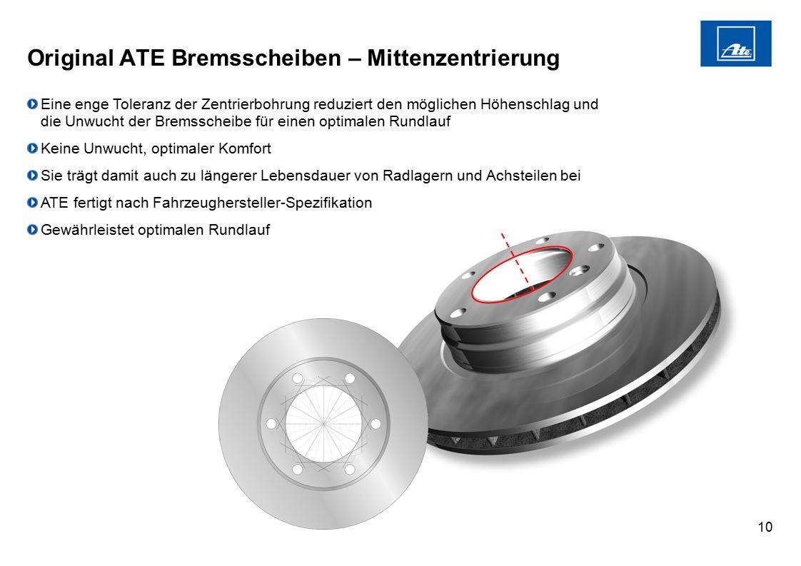 Original ATE Bremsscheiben – Mittenzentrierung