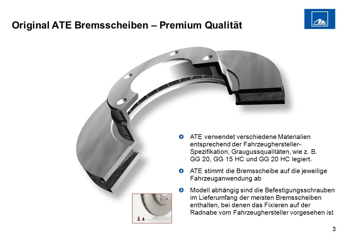 Original ATE Bremsscheiben – Premium Qualität