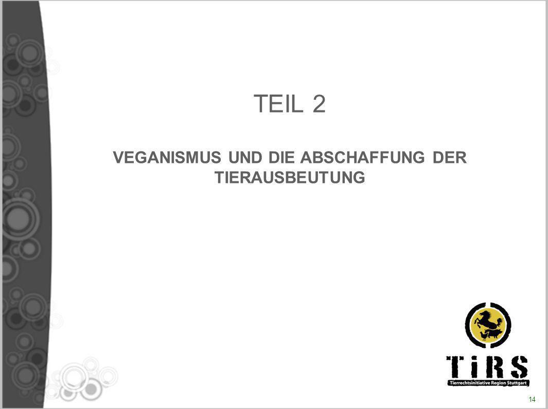 TEIL 2 VEGANISMUS UND DIE ABSCHAFFUNG DER TIERAUSBEUTUNG