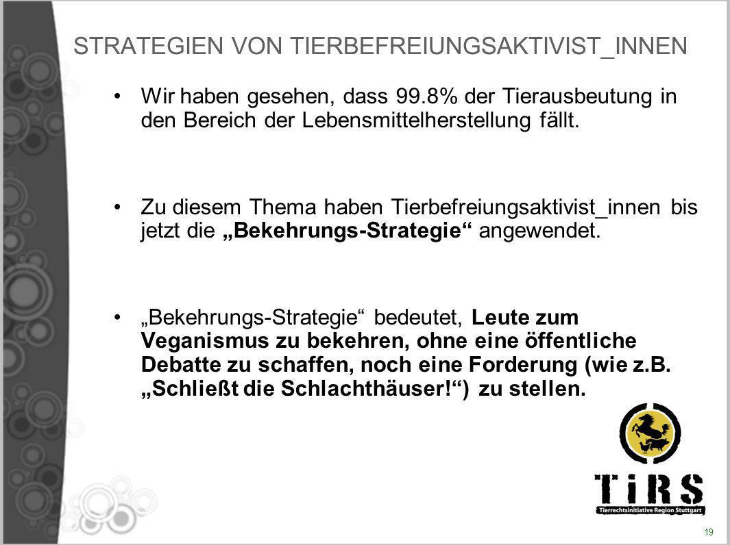 STRATEGIEN VON TIERBEFREIUNGSAKTIVIST_INNEN
