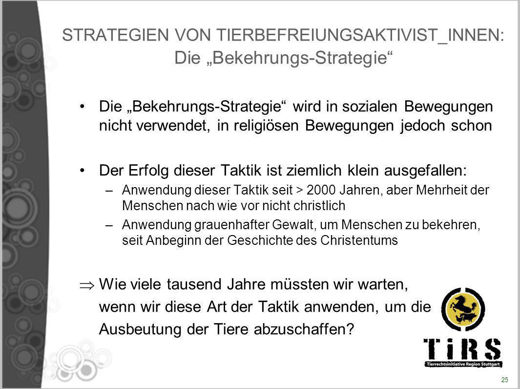 """STRATEGIEN VON TIERBEFREIUNGSAKTIVIST_INNEN: Die """"Bekehrungs-Strategie"""