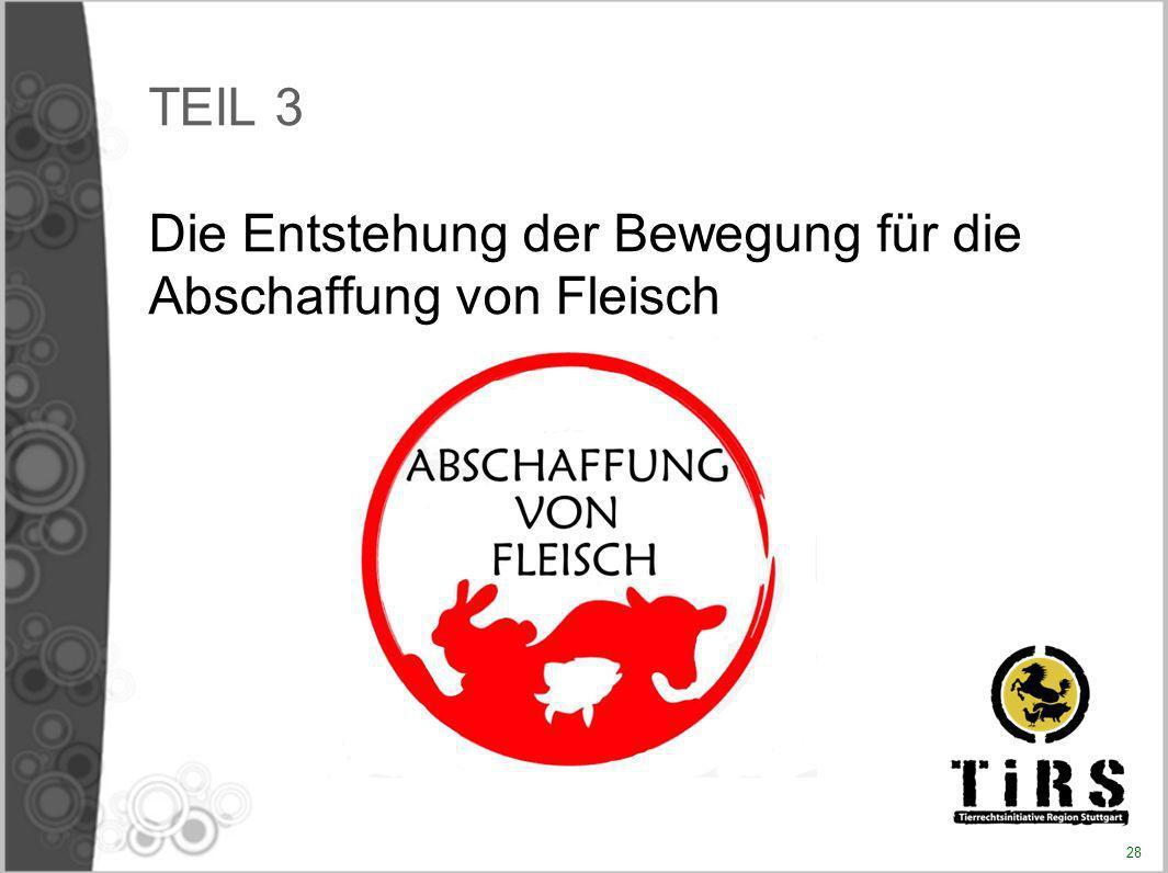 TEIL 3 Die Entstehung der Bewegung für die Abschaffung von Fleisch