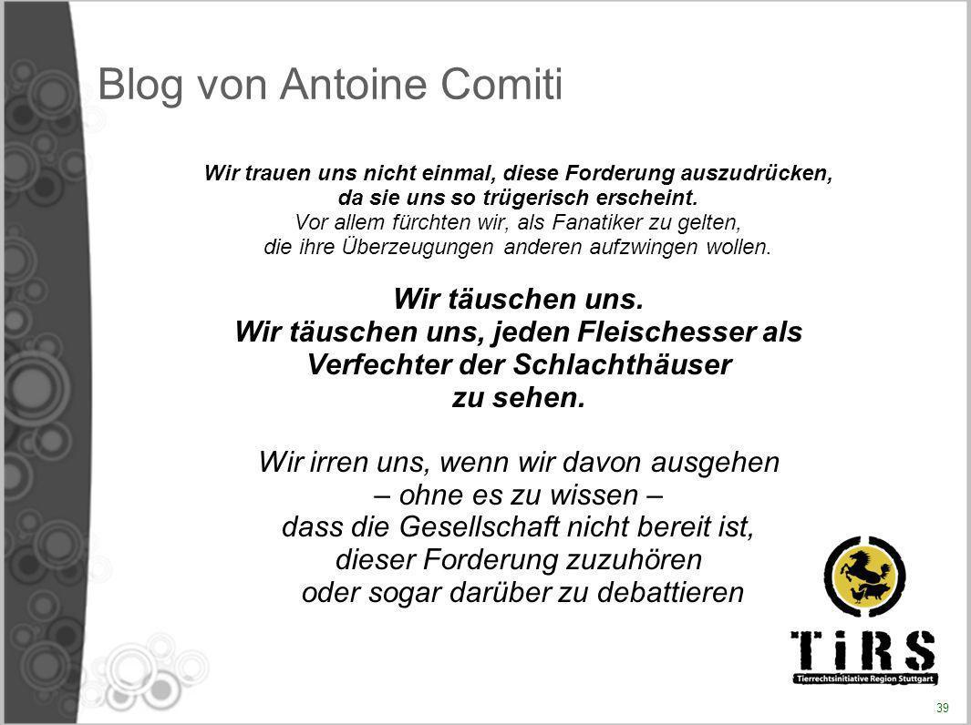 Blog von Antoine Comiti
