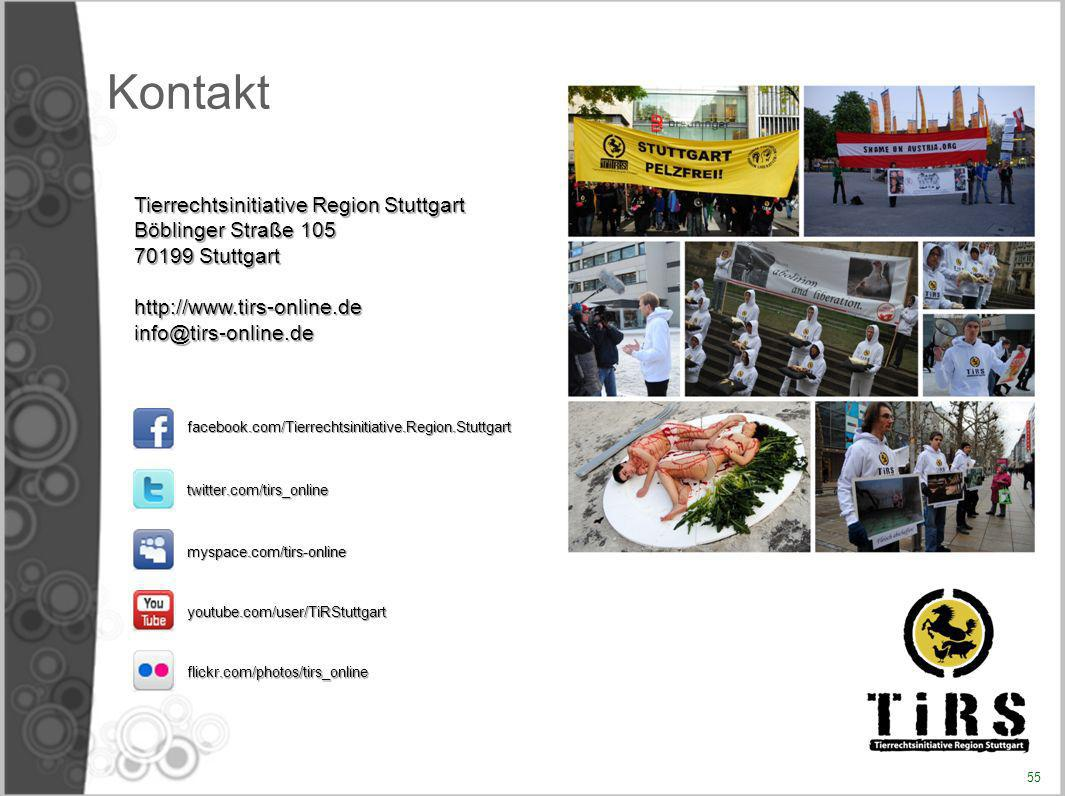 Kontakt Tierrechtsinitiative Region Stuttgart Böblinger Straße 105