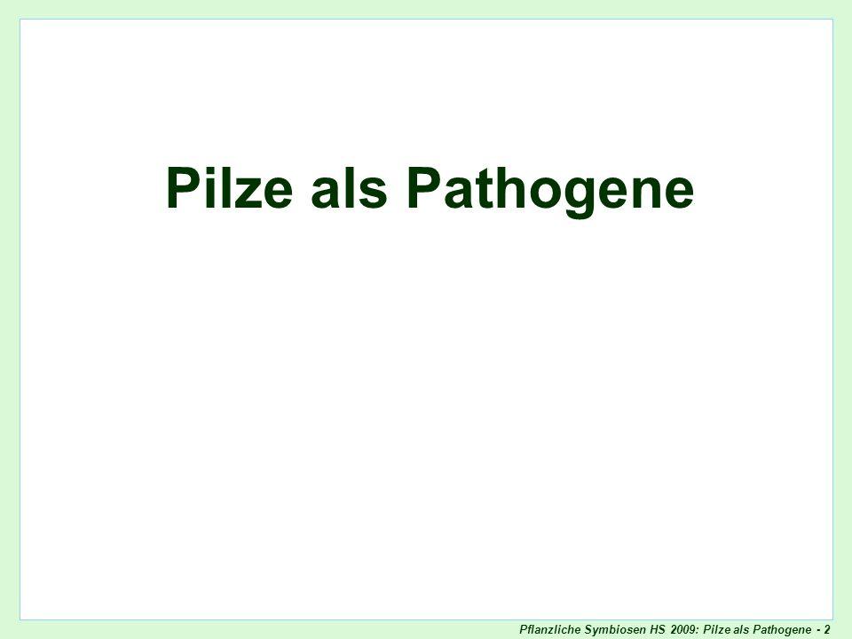 Titelblatt Pilze als Pathogene