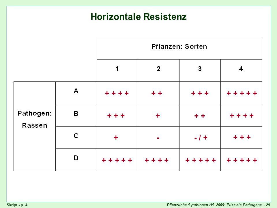 Horizontale Resistenz