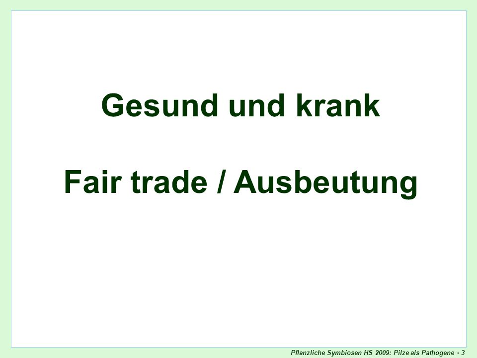 Fair trade / Ausbeutung