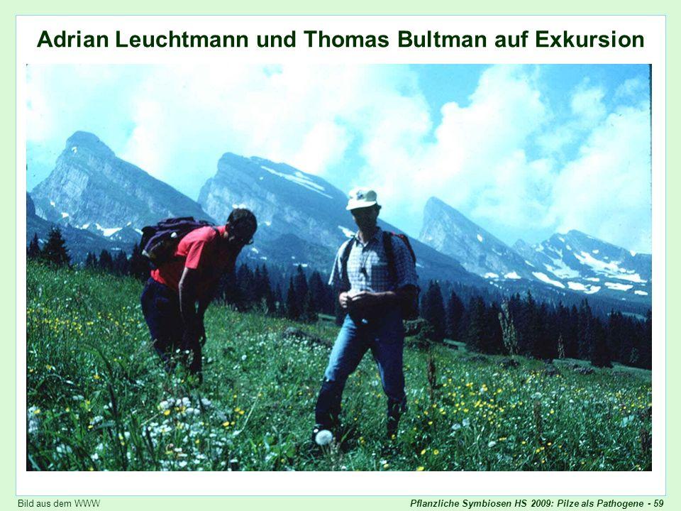Adrian Leuchtmann und Thomas Bultman auf Exkursion