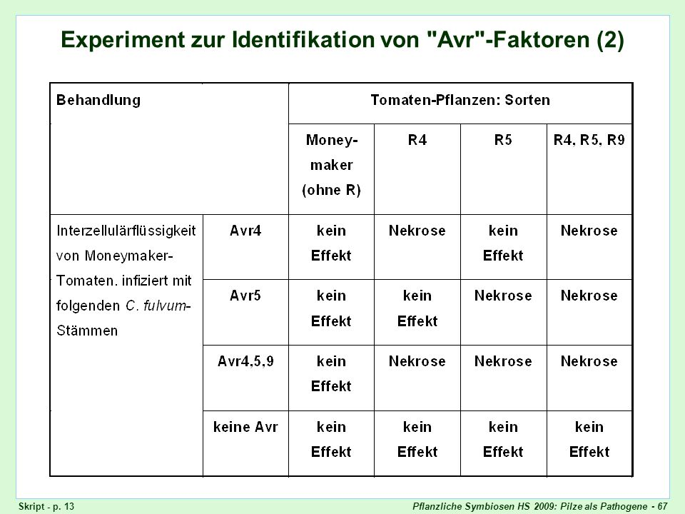 Experiment zur Identifikation von Avr-Faktoren (2)