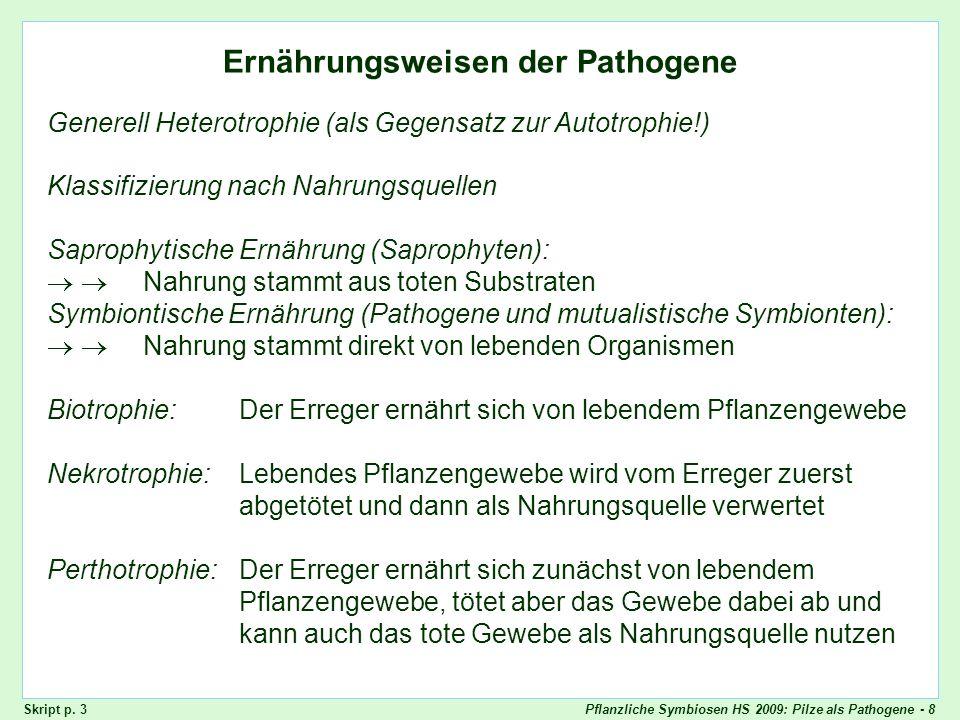 Ernährungsweisen der Pathogene