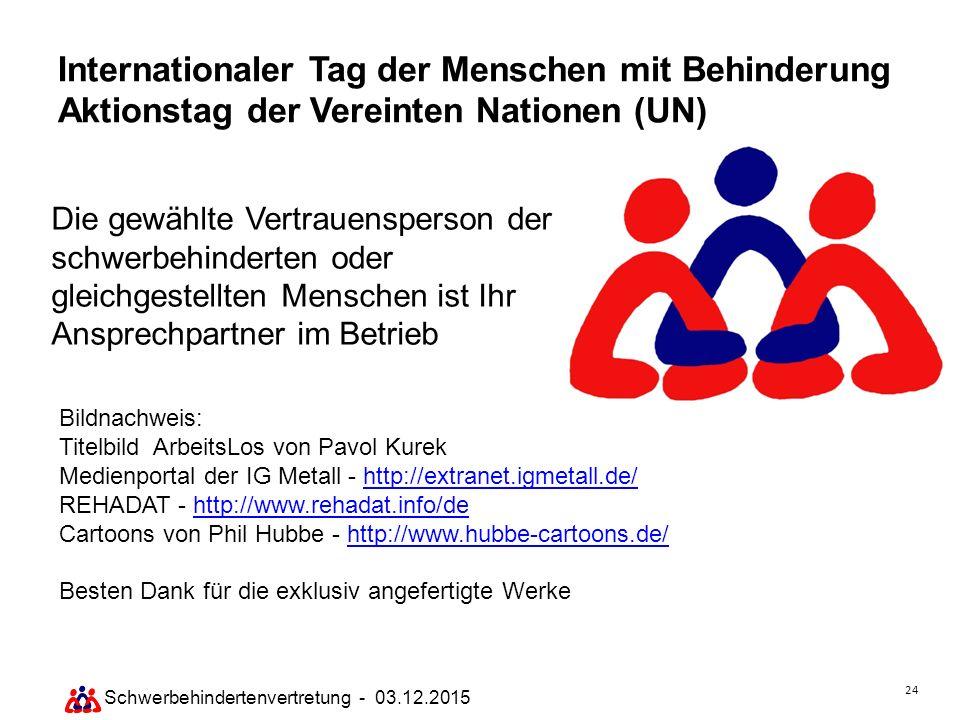Internationaler Tag der Menschen mit Behinderung Aktionstag der Vereinten Nationen (UN)