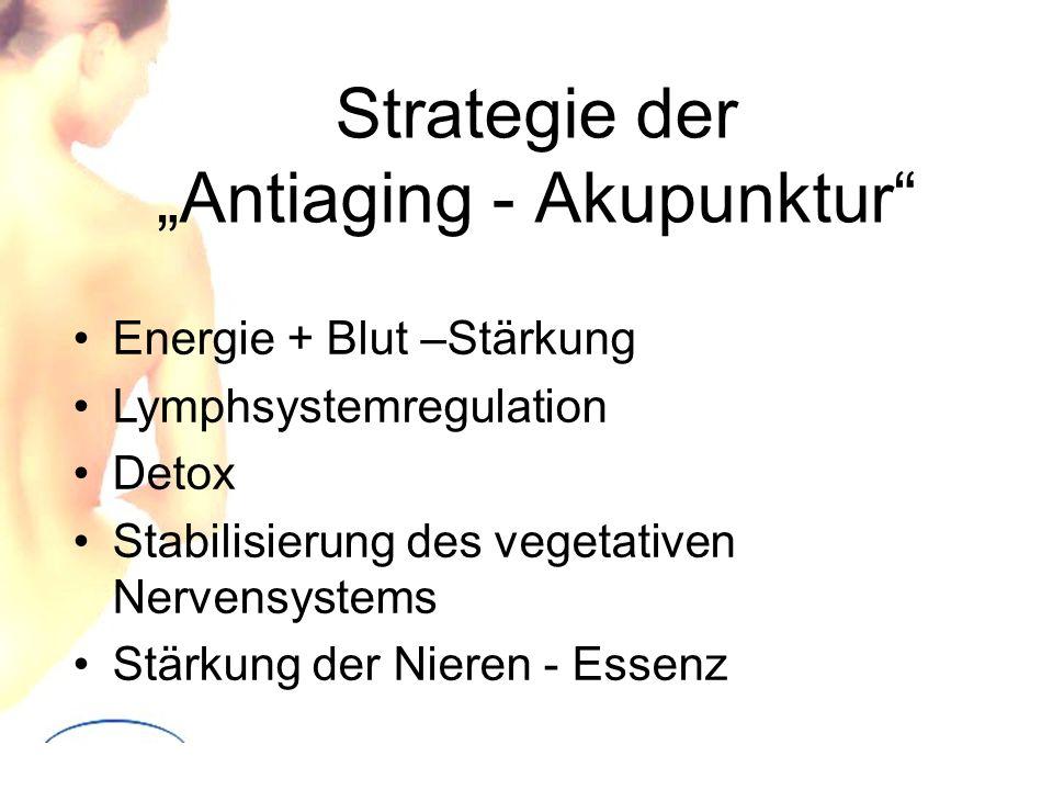 """Strategie der """"Antiaging - Akupunktur"""