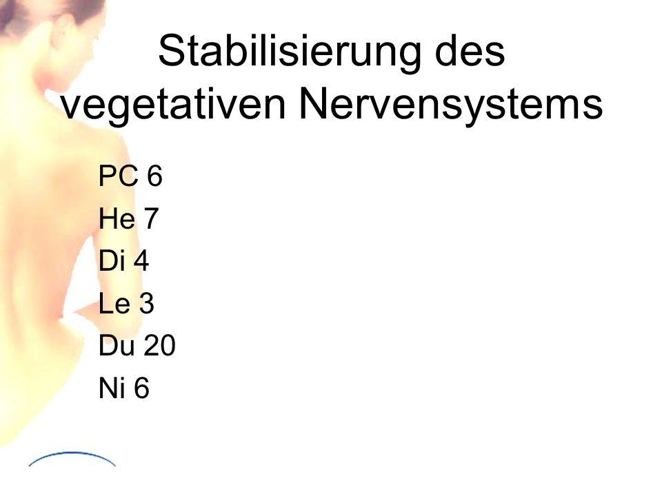Stabilisierung des vegetativen Nervensystems