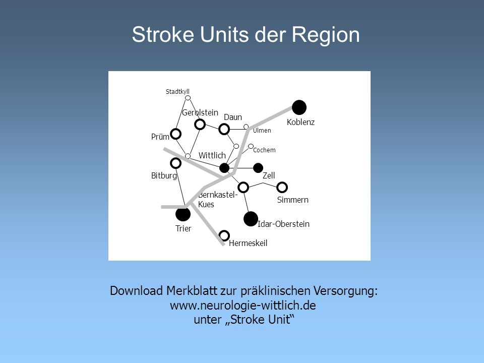 Stroke Units der Region