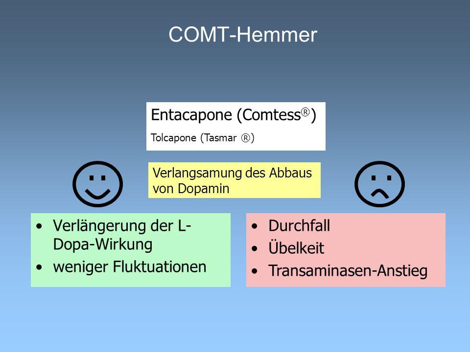 COMT-Hemmer Entacapone (Comtess®) Tolcapone (Tasmar ®)