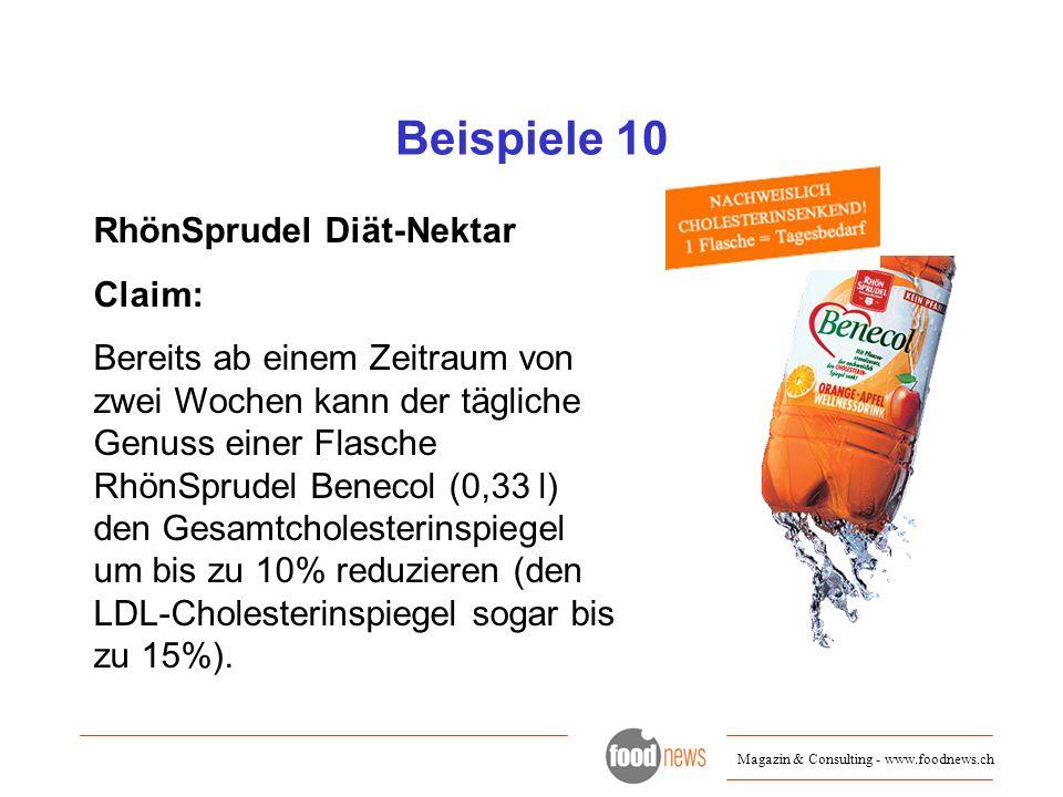 Beispiele 10 RhönSprudel Diät-Nektar Claim: