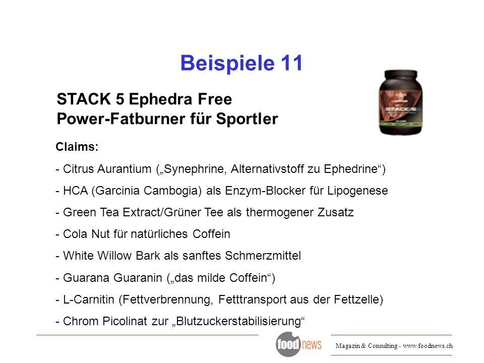 Beispiele 11 STACK 5 Ephedra Free Power-Fatburner für Sportler Claims: