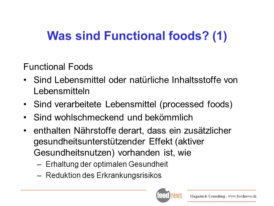 Was sind Functional foods (1)