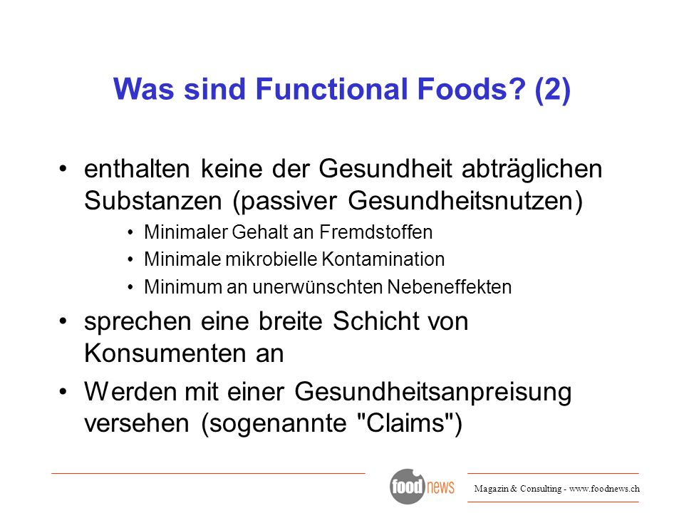 Was sind Functional Foods (2)