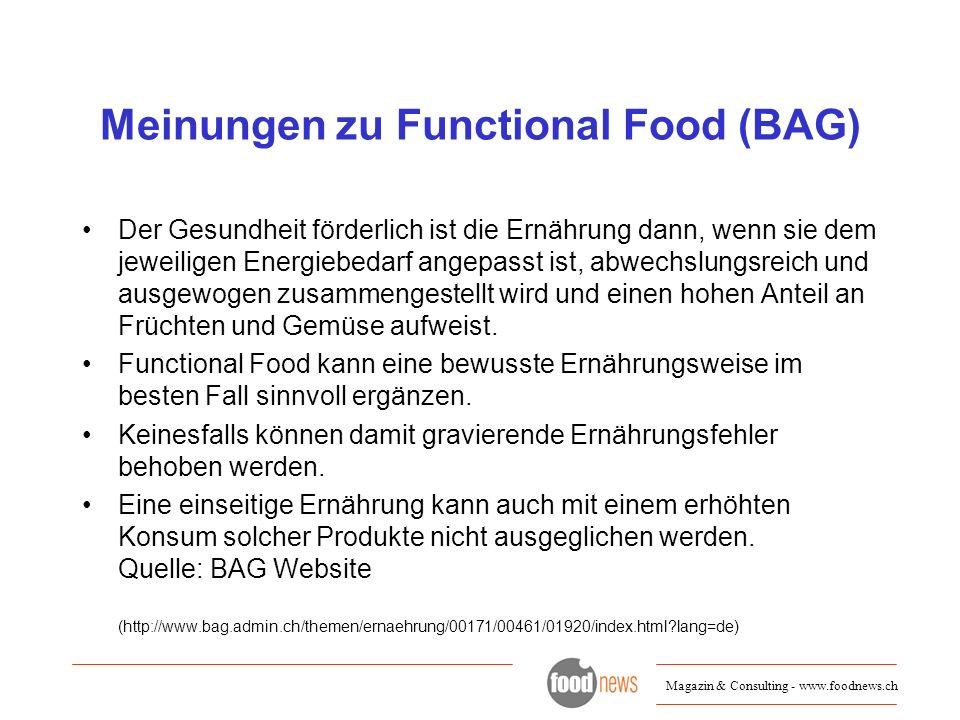 Meinungen zu Functional Food (BAG)