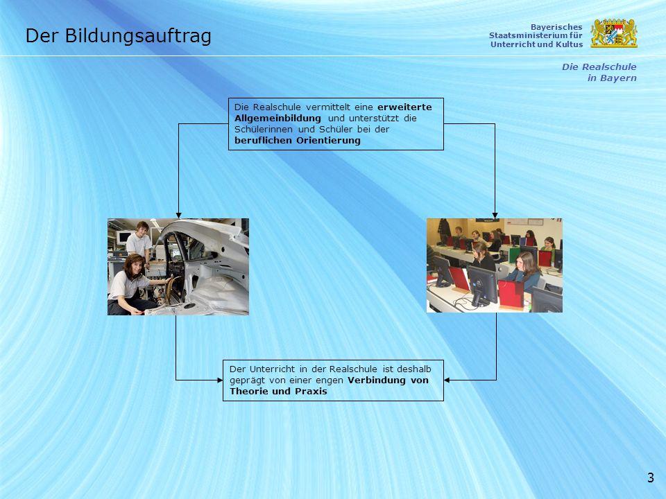 Der Bildungsauftrag Die Realschule in Bayern