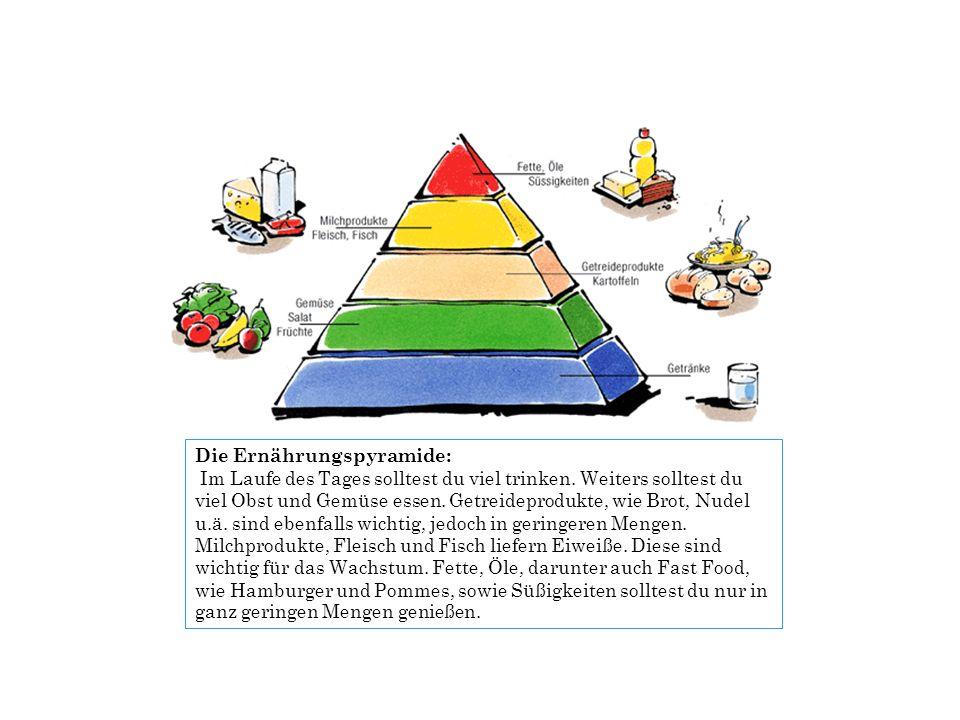 Die Ernährungspyramide:
