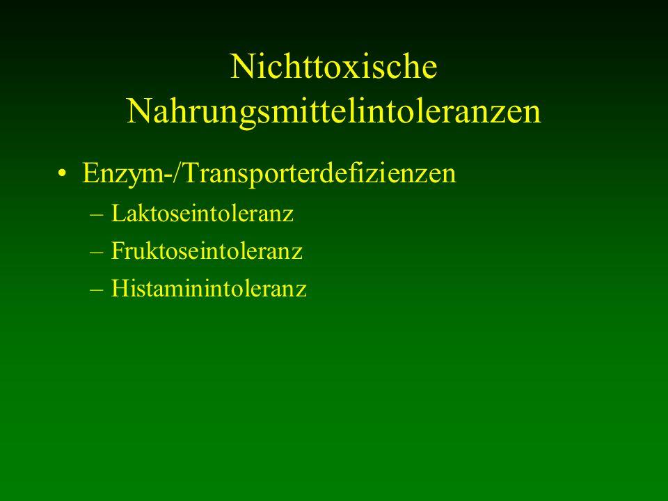 Nichttoxische Nahrungsmittelintoleranzen