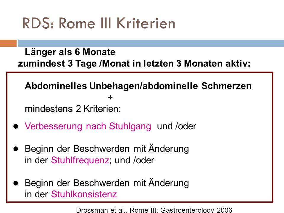 RDS: Rome III Kriterien