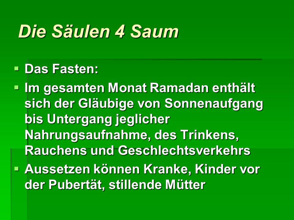 Die Säulen 4 Saum Das Fasten:
