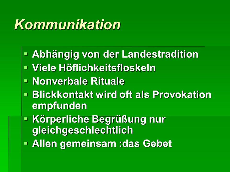 Kommunikation Abhängig von der Landestradition