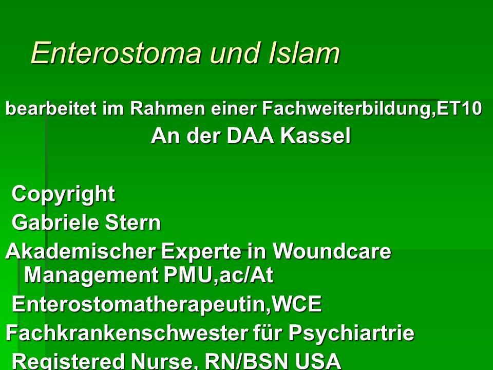 Enterostoma und Islam An der DAA Kassel Copyright Gabriele Stern