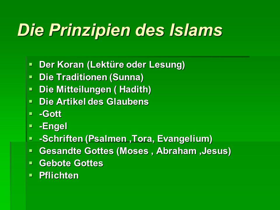 Die Prinzipien des Islams