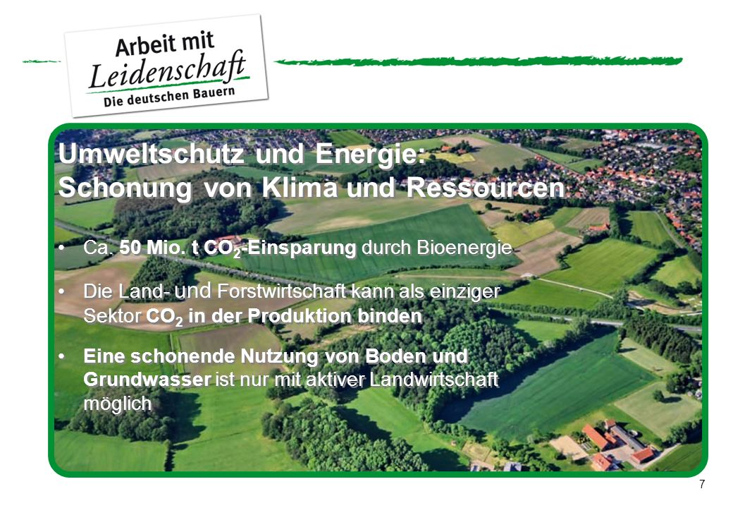 Umweltschutz und Energie: Schonung von Klima und Ressourcen