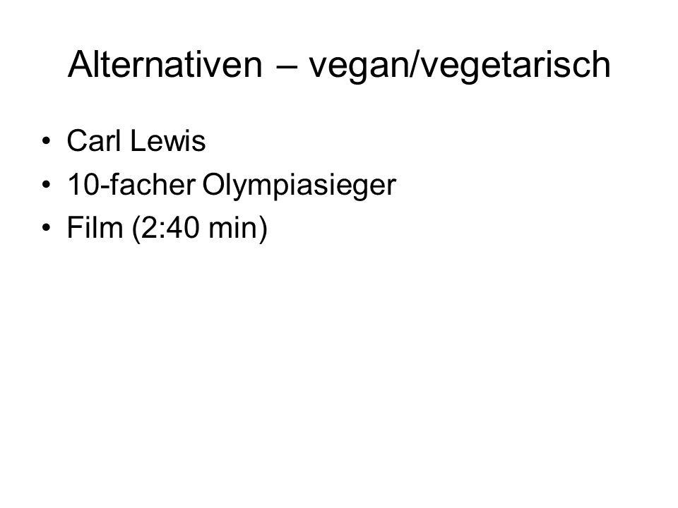 Alternativen – vegan/vegetarisch