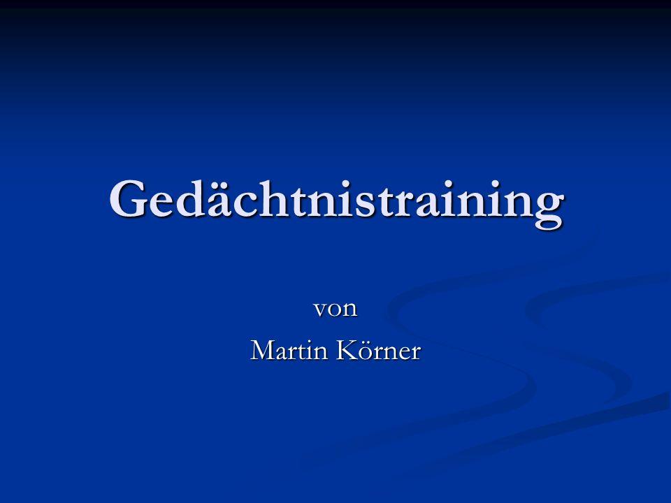 Gedächtnistraining von Martin Körner