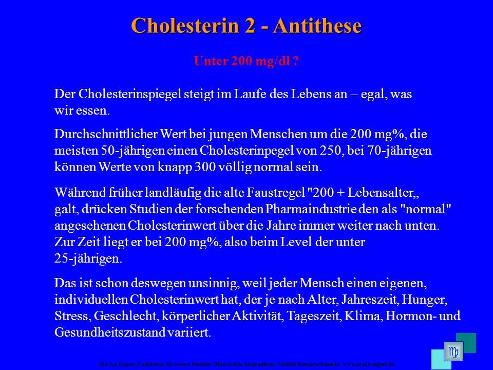 Cholesterin 2 - Antithese