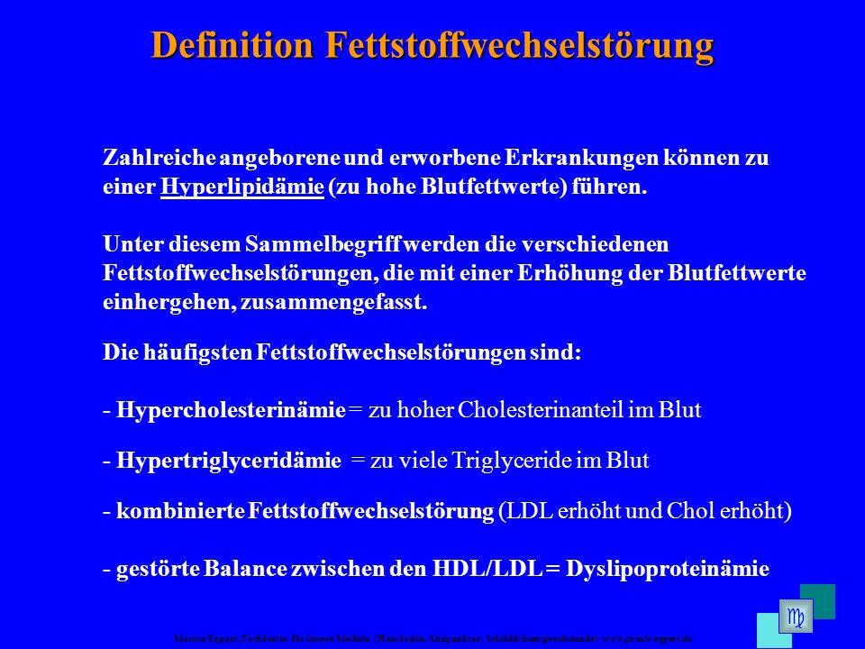 Definition Fettstoffwechselstörung