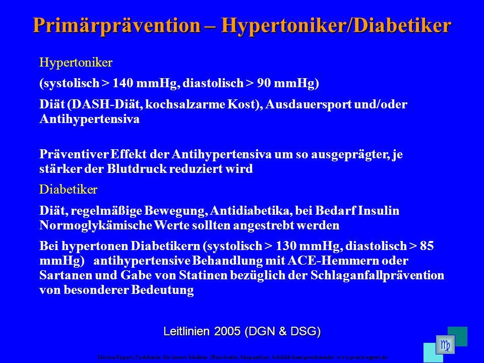 Primärprävention – Hypertoniker/Diabetiker