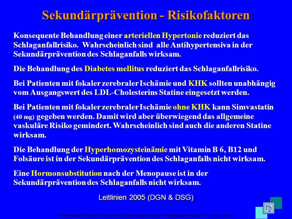 Sekundärprävention - Risikofaktoren