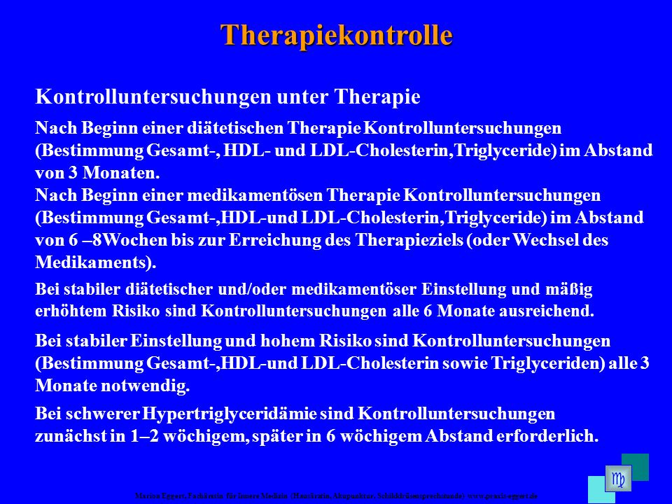 Therapiekontrolle Kontrolluntersuchungen unter Therapie