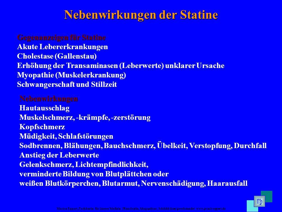 Nebenwirkungen der Statine