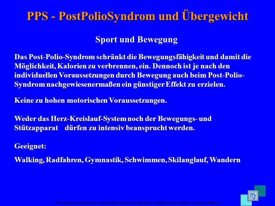 PPS - PostPolioSyndrom und Übergewicht