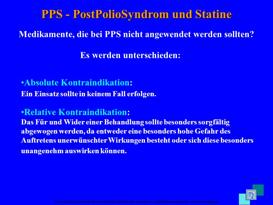 PPS - PostPolioSyndrom und Statine