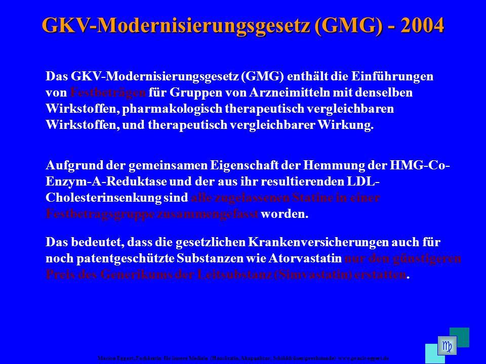 GKV-Modernisierungsgesetz (GMG) - 2004