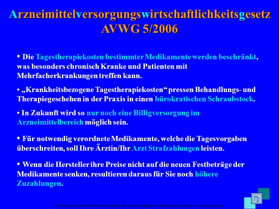 Arzneimittelversorgungswirtschaftlichkeitsgesetz AVWG 5/2006