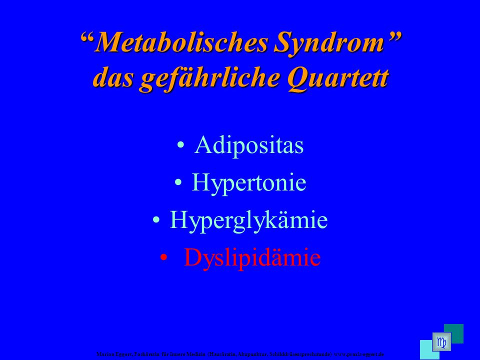 Metabolisches Syndrom das gefährliche Quartett