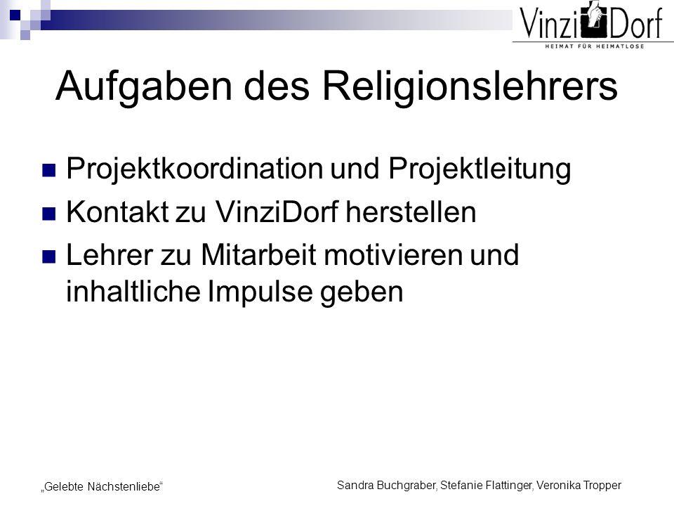 Aufgaben des Religionslehrers