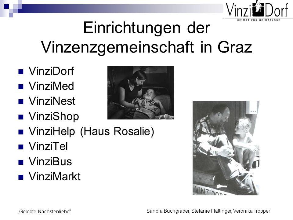 Einrichtungen der Vinzenzgemeinschaft in Graz